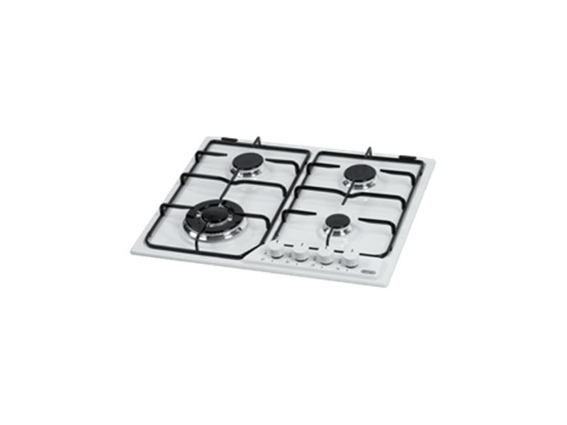 Gas Cooktop with Wok Burner - 60cm – White DEGH60WT