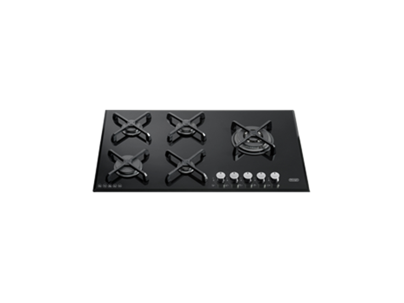Gas Cooktop 5 Burner - 90cm - Black Ceran Glass DEGH90BG