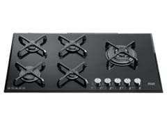 Factory Second: Gas Cooktop 5 Burner - 90cm - Black Ceran Glass - DEGH90BG