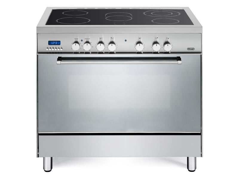 Freestanding 90cm Oven with Electric Cooktop - DEF905EX1
