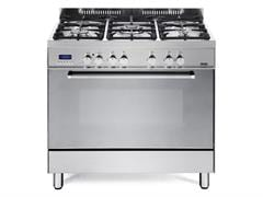 90cm Freestanding Oven with Gas Cooktop DEF905GWX1