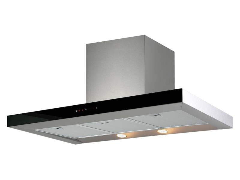 DeLonghi Canopy Rangehood 90cm Stainless Steel and Glass DESELENE90
