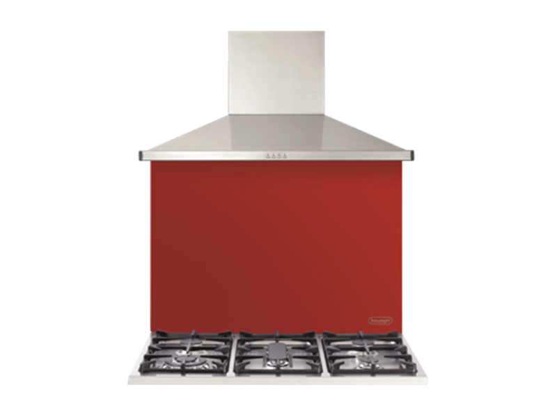 Red Glass 90cm Splashback - DEGL90R