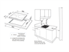 3 Zone 60cm Induction Touch Control Cooktop - DEIND603 - Installation Diagram