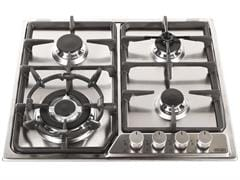 Factory Second: Stainless Steel 60cm Gas Cooktop with Wok Burner - DEGH60