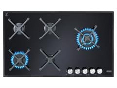 90cm 5 Burner Black Glass Gas Cooktop DEGH90BGX1