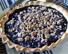 Lemon-Blueberry Crumb Pie