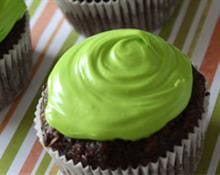 Banana and Black Bean Chocolate Cupcakes with Avocado Frosting