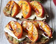 Peaches and Brie Tartine
