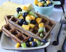 Buckwheat Waffle with Fruit Salsa