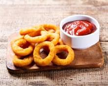 Frozen onion rings