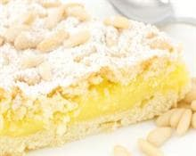 custard and pine nut tart