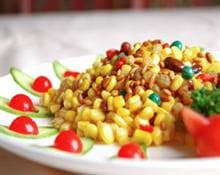 sweet corn with pine nuts