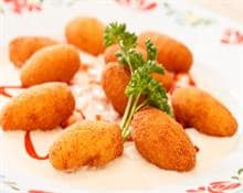cheese-filled potato croquettes