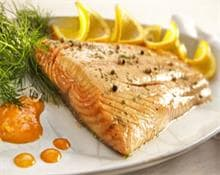Salmon baked in foil with orange