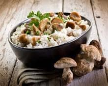 Rice with porcini mushrooms