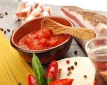 Amatriciana or Spicy Tomato Sauce with Pancetta