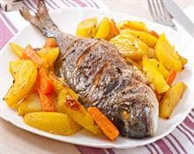 sea bass with potatoes