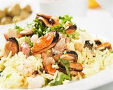 Rice pilaf with shellfish