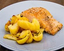 Salmon with herb roasted potatoes