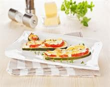 Baked courgettes with tomatoes