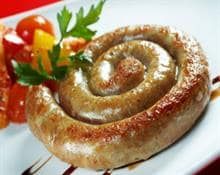 Baked turkey sausage