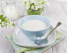 Vanilla rice milk pudding