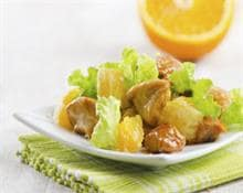 Turkey nuggets with orange