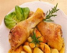 Chicken drumsticks with potatoes
