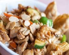Chicken with almonds