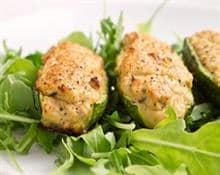 Courgettes with tuna